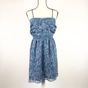 Lauren Conrad Spring Blue Strapless Mini Dress  8